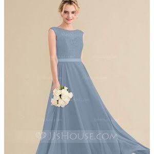 Steel Blue Formal Dress